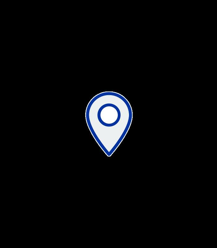 Vector de ubicación de un lugar en el mapa